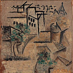Pablo Picasso (1881-1973) Period of creation: 1908-1918 - 1911 LAvenue Frochot, vu de latelier de Picasso