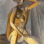 Pablo Picasso (1881-1973) Period of creation: 1908-1918 - 1909 Femme nue assise