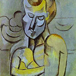 1909 Homme nu aux bras croisВs, Pablo Picasso (1881-1973) Period of creation: 1908-1918