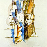 1915 Homme assis, Pablo Picasso (1881-1973) Period of creation: 1908-1918