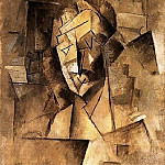 1909 TИte dhomme2, Pablo Picasso (1881-1973) Period of creation: 1908-1918