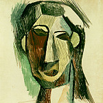 Pablo Picasso (1881-1973) Period of creation: 1908-1918 - 1909 TИte de femme (Fernande Olivier)1