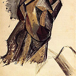 1912 TИte de femme. JPG, Pablo Picasso (1881-1973) Period of creation: 1908-1918