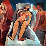 Pablo Picasso (1881-1973) Period of creation: 1908-1918 - 1908 Nu couchВ avec personnages. JPG