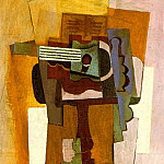1915 Guitare sur un guВridon, Pablo Picasso (1881-1973) Period of creation: 1908-1918