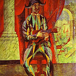 Pablo Picasso (1881-1973) Period of creation: 1908-1918 - 1918 Arlequin Е la Guitare