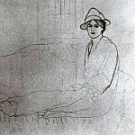1918 Olga Picasso allongВe sur un sofa, Pablo Picasso (1881-1973) Period of creation: 1908-1918