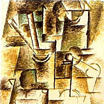 Pablo Picasso (1881-1973) Period of creation: 1908-1918 - 1911 Verre aux chalumeaux