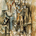 1912 [Homme Е la guitare] Homme au violon, Pablo Picasso (1881-1973) Period of creation: 1908-1918