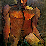 Pablo Picasso (1881-1973) Period of creation: 1908-1918 - 1908 Homme nu assis