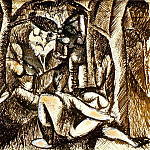 Pablo Picasso (1881-1973) Period of creation: 1908-1918 - 1908 Nu dans la forИt