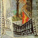 Pablo Picasso (1881-1973) Period of creation: 1908-1918 - 1917 Vue sur le monument de Colomb