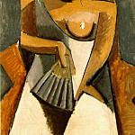 Pablo Picasso (1881-1973) Period of creation: 1908-1918 - 1908 Femme Е lВventail (AprКs le bal)