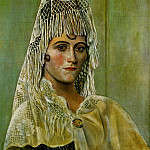1917 Olga Kokhlova Е la mantille, Pablo Picasso (1881-1973) Period of creation: 1908-1918