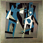 Pablo Picasso (1881-1973) Period of creation: 1908-1918 - 1917 Arlequin et femme au collier