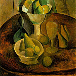 Pablo Picasso (1881-1973) Period of creation: 1908-1918 - 1908 Compotiers, fruits et verre