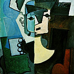 Pablo Picasso (1881-1973) Period of creation: 1908-1918 - 1917 Visage de femme