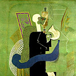 Pablo Picasso (1881-1973) Period of creation: 1908-1918 - 1914 Homme assis au verre [Femme et homme]