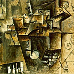 Pablo Picasso (1881-1973) Period of creation: 1908-1918 - 1911 Nature morte sur un piano (CORT)