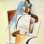 Pablo Picasso (1881-1973) Period of creation: 1908-1918 - 1916 AccordВoniste [Homme Е chapeau]