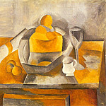 Pablo Picasso (1881-1973) Period of creation: 1908-1918 - 1909 Nature morte Е la brioche
