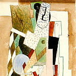 Pablo Picasso (1881-1973) Period of creation: 1908-1918 - 1915 Femme assise Е la mandoline