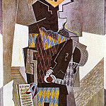 Pablo Picasso (1881-1973) Period of creation: 1908-1918 - 1918 Arlequin Е la guitare (Si tu veux)