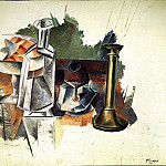 Pablo Picasso (1881-1973) Period of creation: 1908-1918 - 1909 Carafe et chandelier