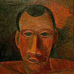 1908 Buste dТhomme, Pablo Picasso (1881-1973) Period of creation: 1908-1918
