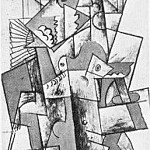 1910 Femme Е lВventail, Pablo Picasso (1881-1973) Period of creation: 1908-1918