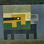Pablo Picasso (1881-1973) Period of creation: 1908-1918 - 1918 Guitare et cruche sur une table