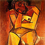 Pablo Picasso (1881-1973) Period of creation: 1908-1918 - 1908 Femme nue assise
