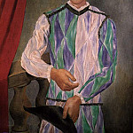 Pablo Picasso (1881-1973) Period of creation: 1908-1918 - 1917 Arlequin1. JPG