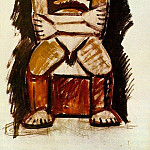 Pablo Picasso (1881-1973) Period of creation: 1908-1918 - 1908 Homme assis