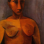 Pablo Picasso (1881-1973) Period of creation: 1908-1918 - 1908 Buste de femme2
