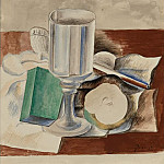 Pablo Picasso (1881-1973) Period of creation: 1908-1918 - 1914 Nature morte au verre et Е la pomme