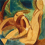 Pablo Picasso (1881-1973) Period of creation: 1908-1918 - 1908 Baignade