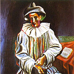 1918 Pierrot1, Pablo Picasso (1881-1973) Period of creation: 1908-1918