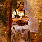 Pablo Picasso (1881-1973) Period of creation: 1908-1918 - 1909 Paysanne assise (LItalienne de Derain)