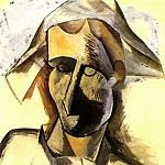1909 Buste dArlequin2, Pablo Picasso (1881-1973) Period of creation: 1908-1918