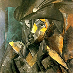 Pablo Picasso (1881-1973) Period of creation: 1908-1918 - 1909 La dame au chapeau noir