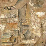 Pablo Picasso (1881-1973) Period of creation: 1908-1918 - 1911 Verre et pomme