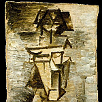 Pablo Picasso (1881-1973) Period of creation: 1908-1918 - 1910 Composition cubiste