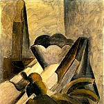 Pablo Picasso (1881-1973) Period of creation: 1908-1918 - 1909 Nature morte au cuir Е rasoir