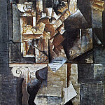 1912 Homme Е la guitare1, Pablo Picasso (1881-1973) Period of creation: 1908-1918
