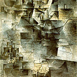 1910 Portrait de Daniel-Henry Kahnweiler, Pablo Picasso (1881-1973) Period of creation: 1908-1918