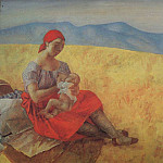 Kuzma Sergeevich Petrov-Vodkin - Mother 2. 1913