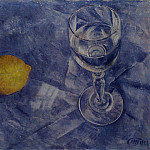Kuzma Sergeevich Petrov-Vodkin - Glass and lemon. 1922