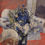 Kuzma Sergeevich Petrov-Vodkin - Still Life (with a female head). 1921