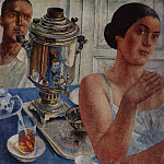 For the samovar. 1926, Kuzma Sergeevich Petrov-Vodkin
